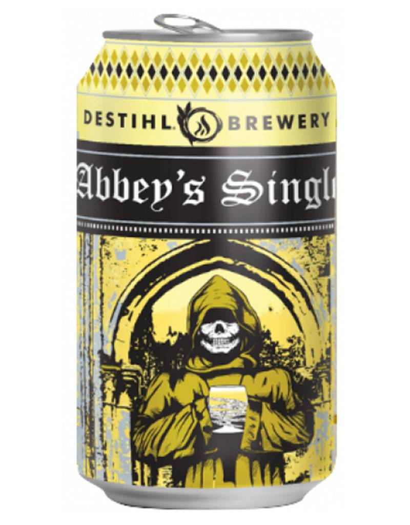 Destihl Brewery Abbey's Single Belgian Style Ale Beer, Illinois, 4pk Can