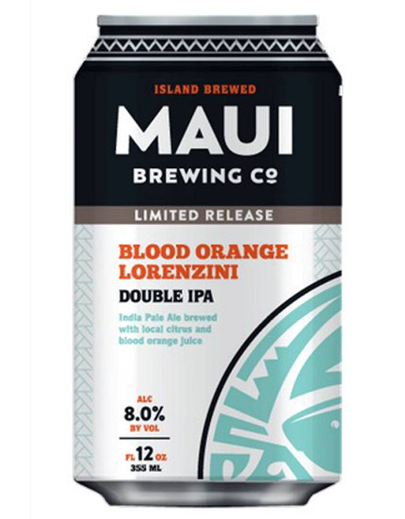 Maui Brewing Co. Maui Brewing Company Blood Orange Lorenzini Double IPA, 4pk