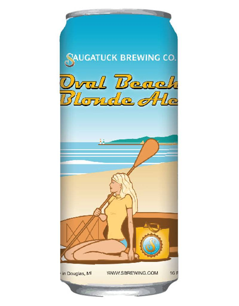 Saugatuck Oval Beach Blonde, 6pk Cans