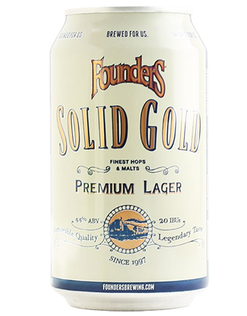 Founders Brewing Co. Solid Gold Premium Lager, 6pk Cans