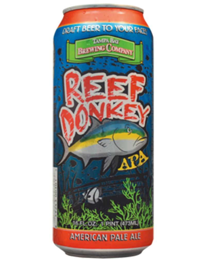 Tampa Bay Brewing Company Reef Donkey Pale Ale, 16 oz Single Can