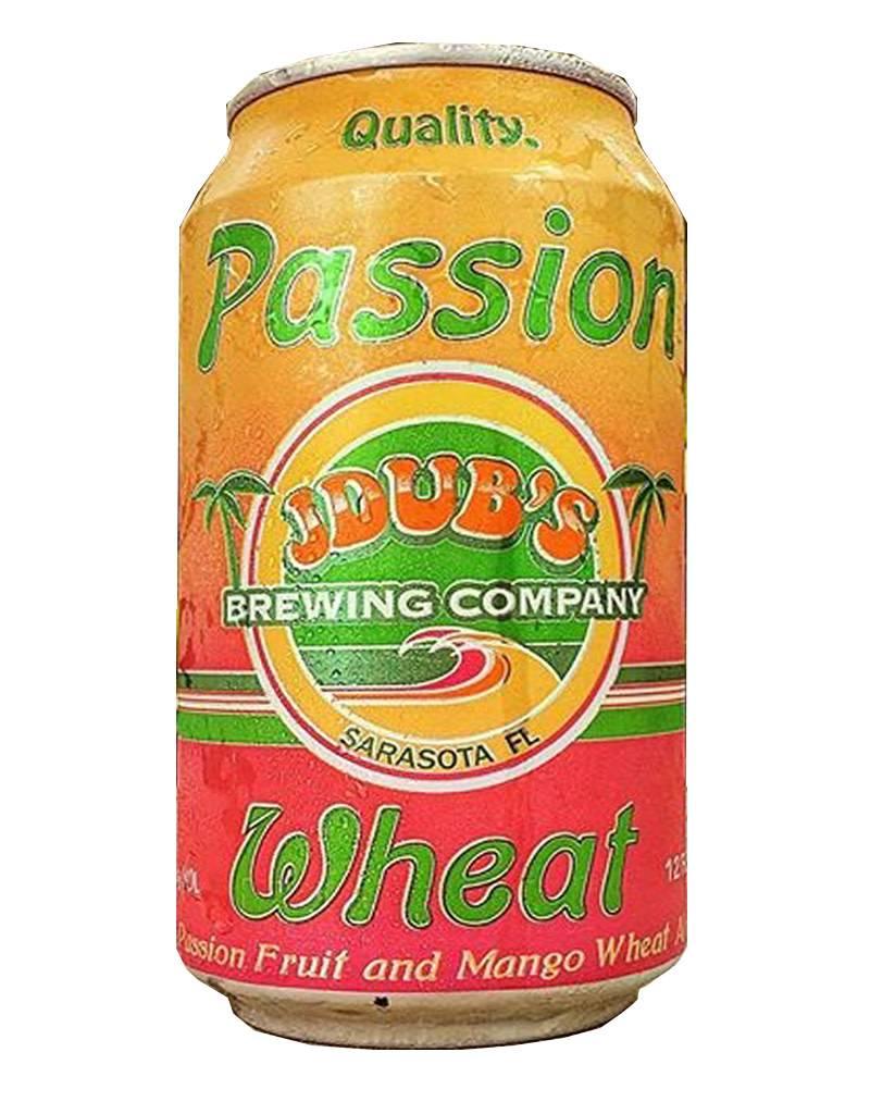JDub's Brewing Co. Passion Wheat Beer, Sarasota, Florida, 6pk Cans