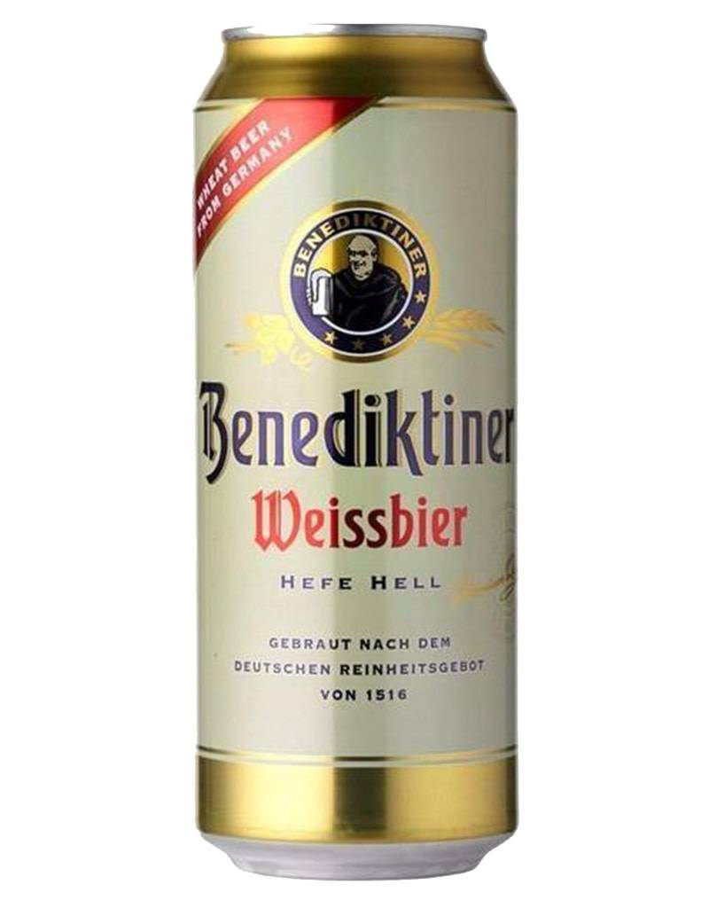 Benediktiner Weissbier Beer, Germany, 16oz Cans, Single