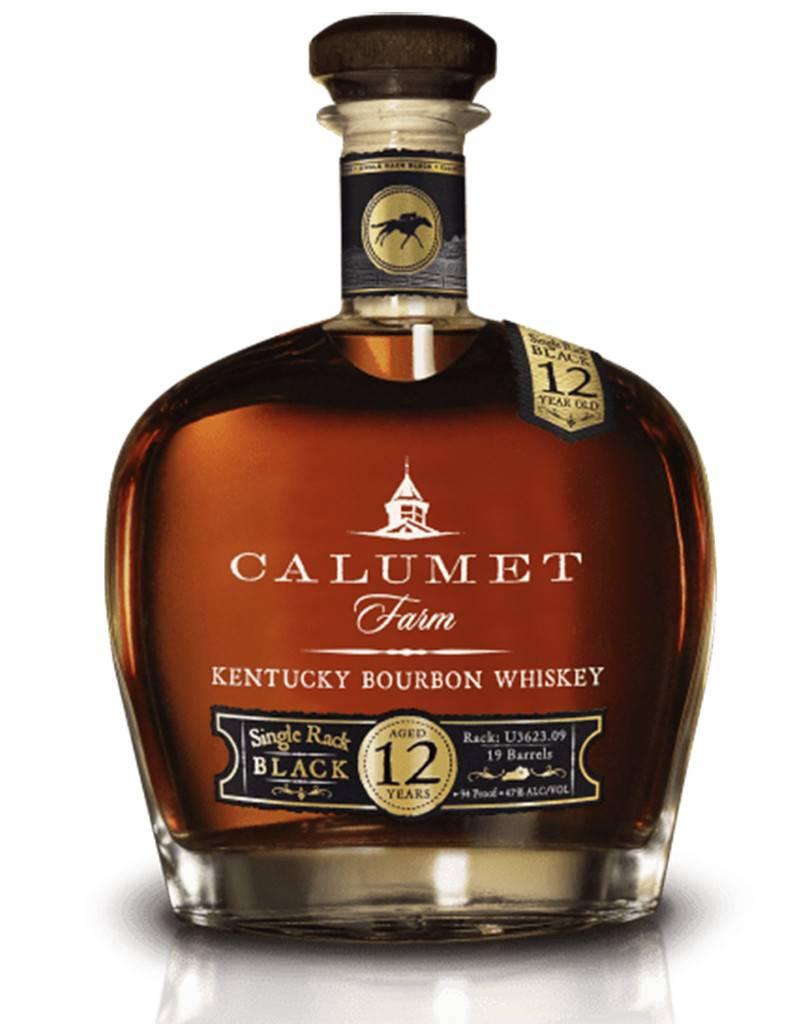 Calumet Farm, 12 Year Old 'Single Rack Black' Kentucky Bourbon Whiskey