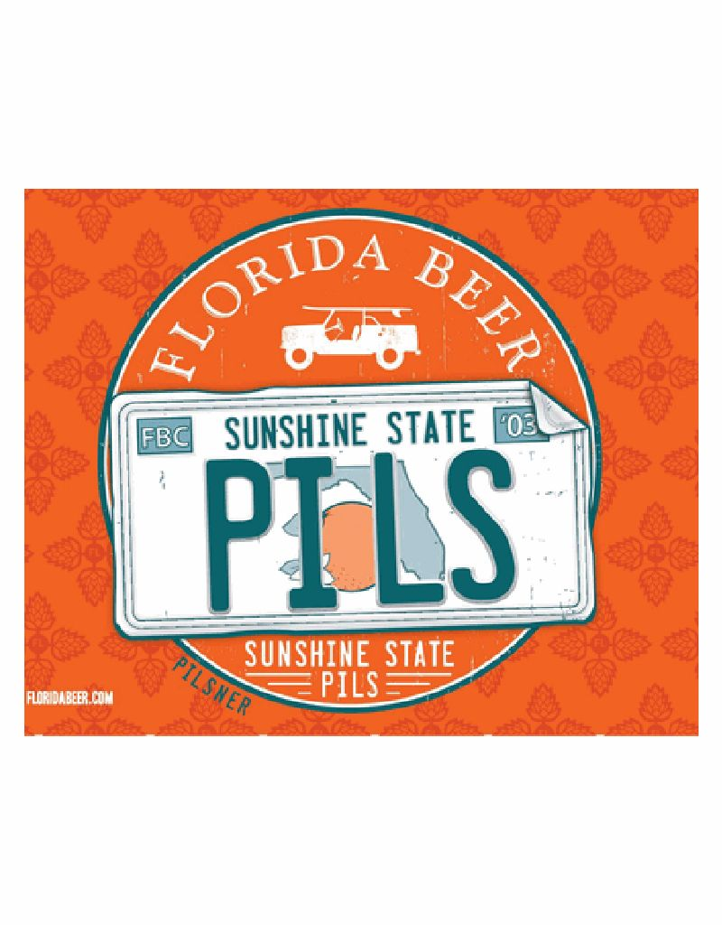 Florida Beer Company Sunshine Pilsner, 6pk Bottle