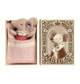 Maileg Mouse, Baby, sleepy-wakey in box