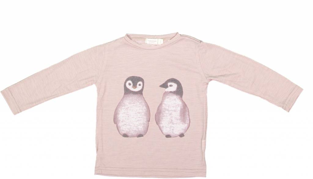 Mademoiselle à Soho Penguins pink tee - MAS