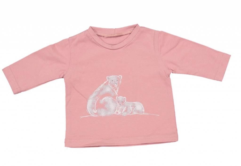 Mademoiselle à Soho Bear pink tee - MAS