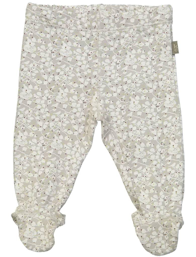 Kid Case Organic footed pants greybird