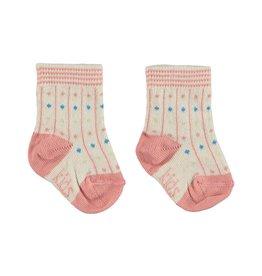 Kid Case Organic dots socks pink