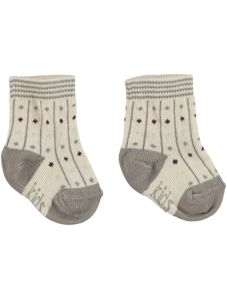 Kid Case Organic dots socks grey
