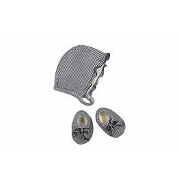 Petit Bateau Striped hat&botties-PB