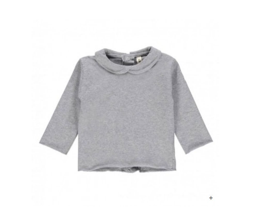 Gray Label Grey Baby Collar Tee
