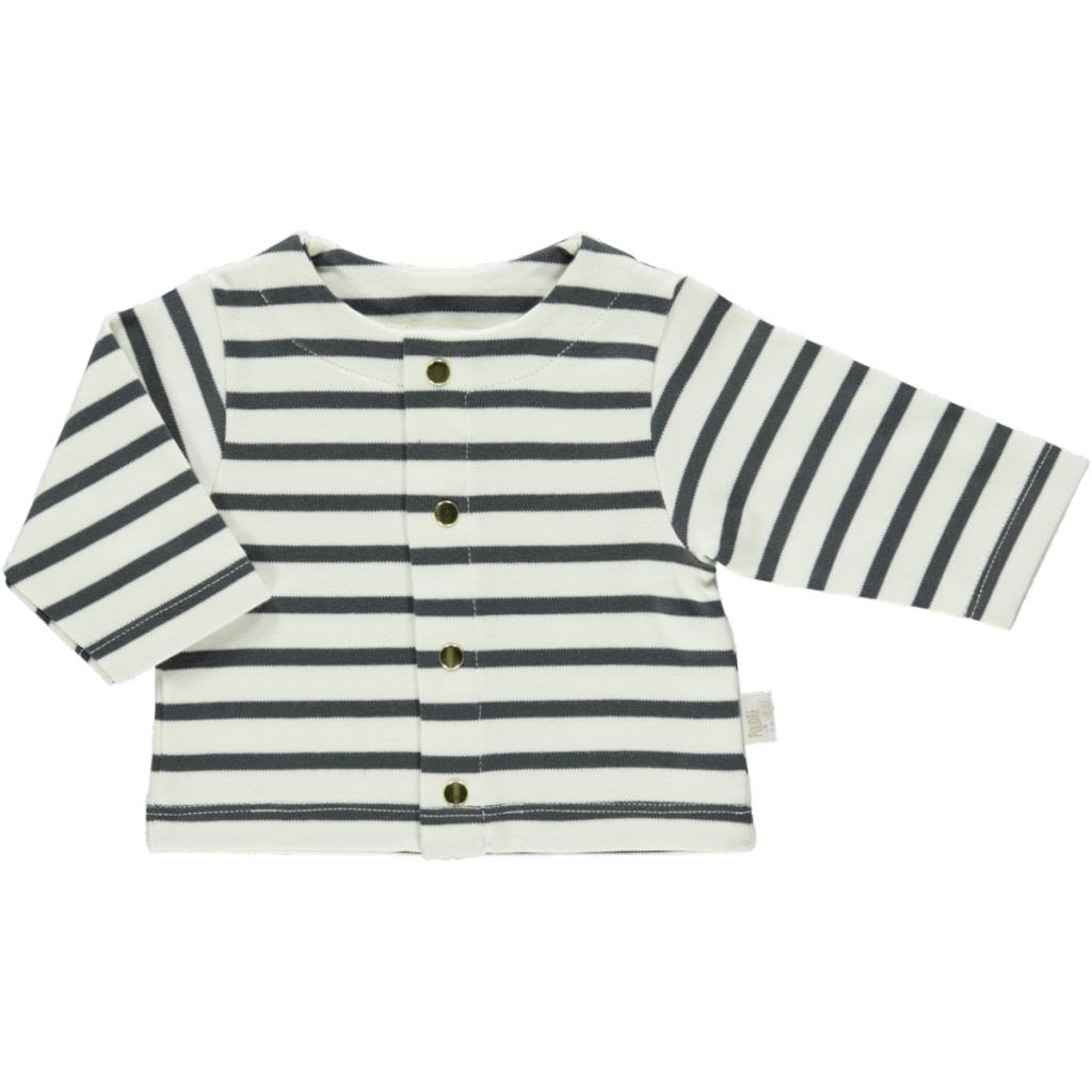 Poudre Organic Baby Striped Cardigan