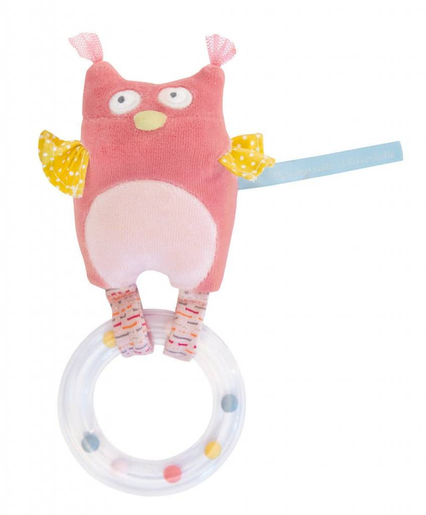 Moulin Roty Owl ring rattle - MR