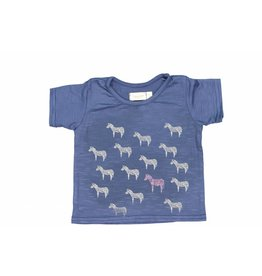 Mademoiselle à Soho Tshirt Zebra blue