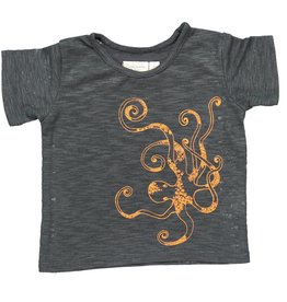 Mademoiselle à Soho T-shirt Octopus orange