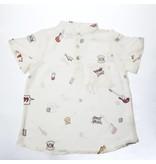 Mademoiselle à Soho Rock print shirt