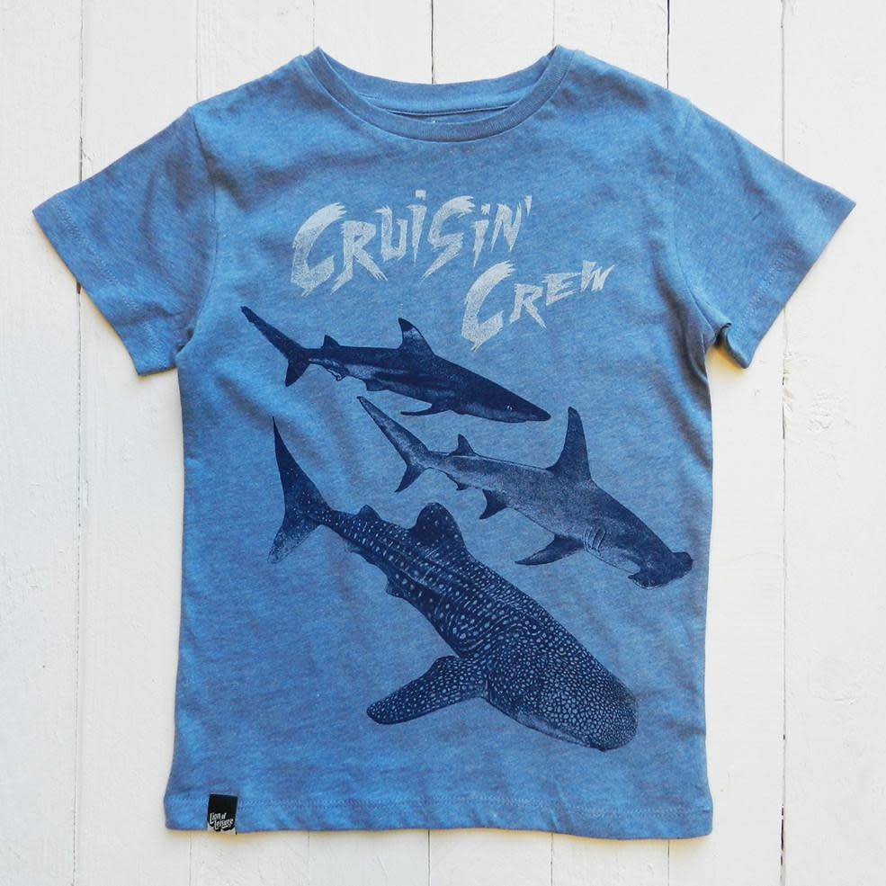 Lion of leissure Blue sharks tee