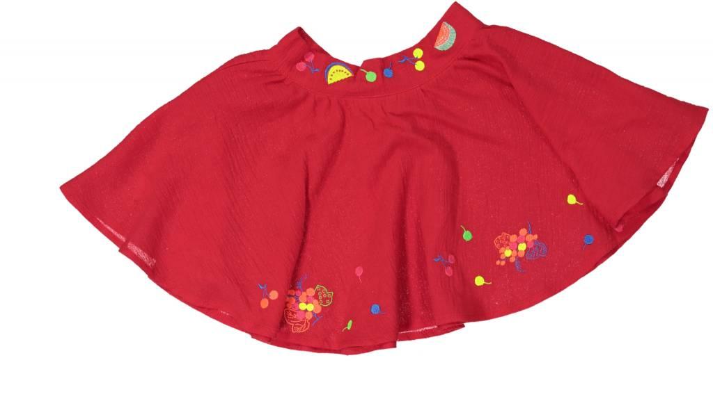 Mademoiselle à Soho Tutti frutti skirt red