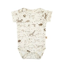Red Caribou Story Short Sleeve Onesie