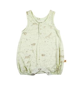 Red Caribou Milky Green Short Romper