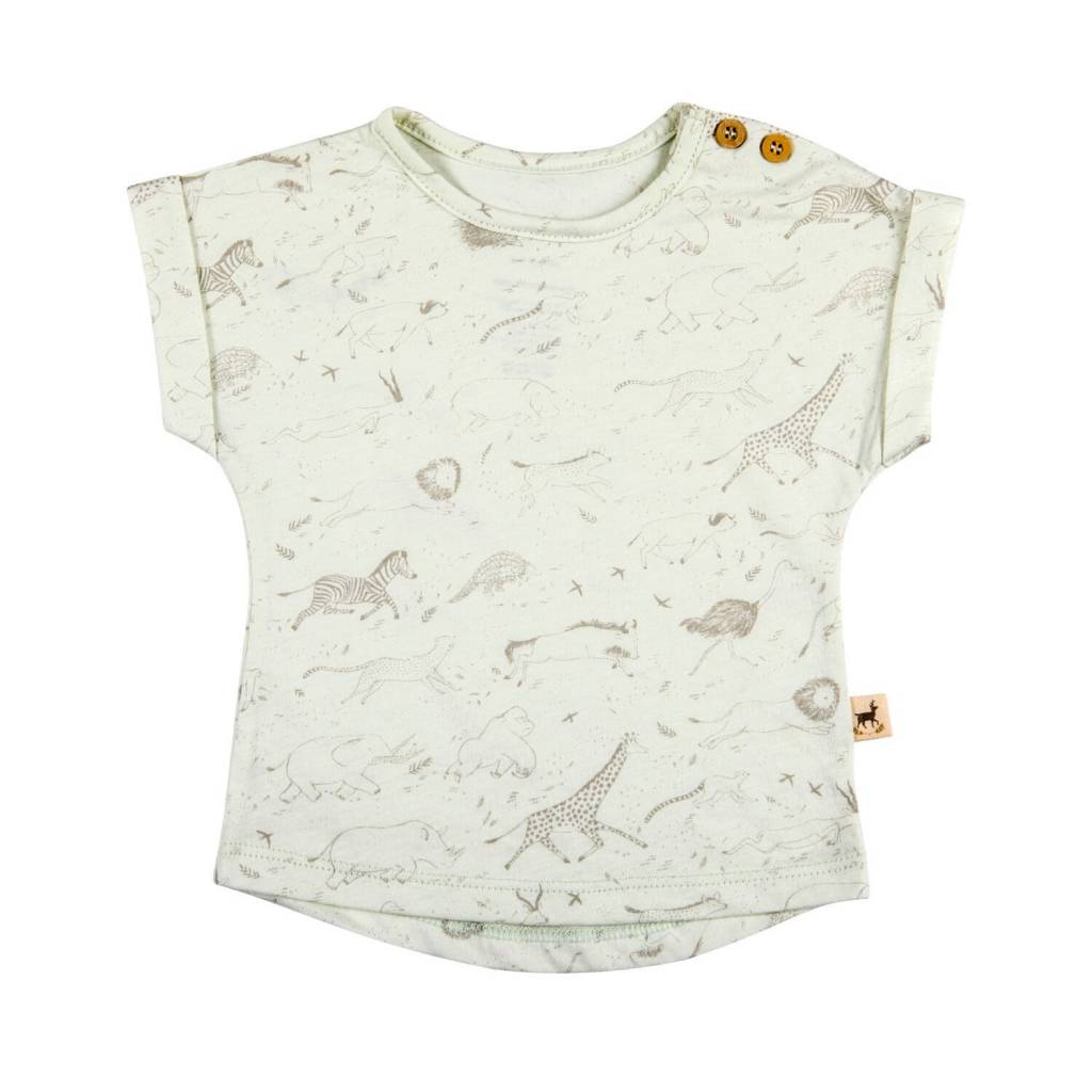 Red Caribou Milky Green T-Shirt