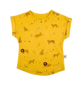 Red Caribou Yellow T-Shirt
