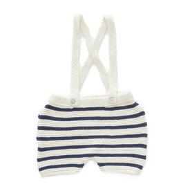Oeuf Stripe navy shorts