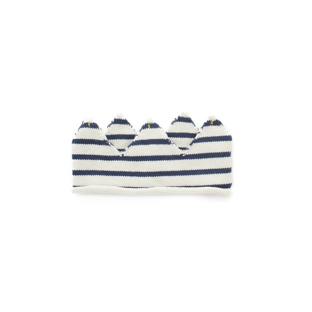 Oeuf Navy striped crown