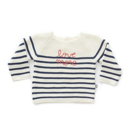 Oeuf Stripe navy sweater