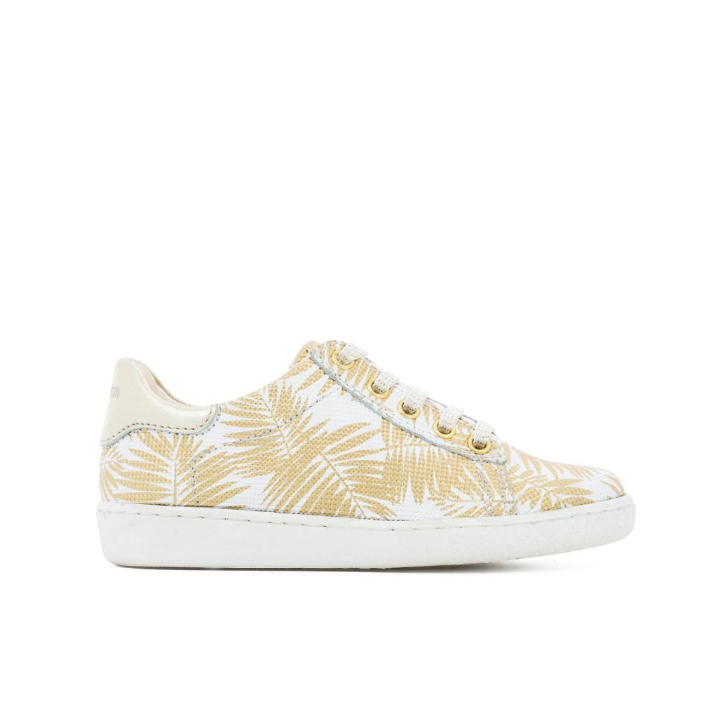 Shoo Pom Gold jungle low top sneakers