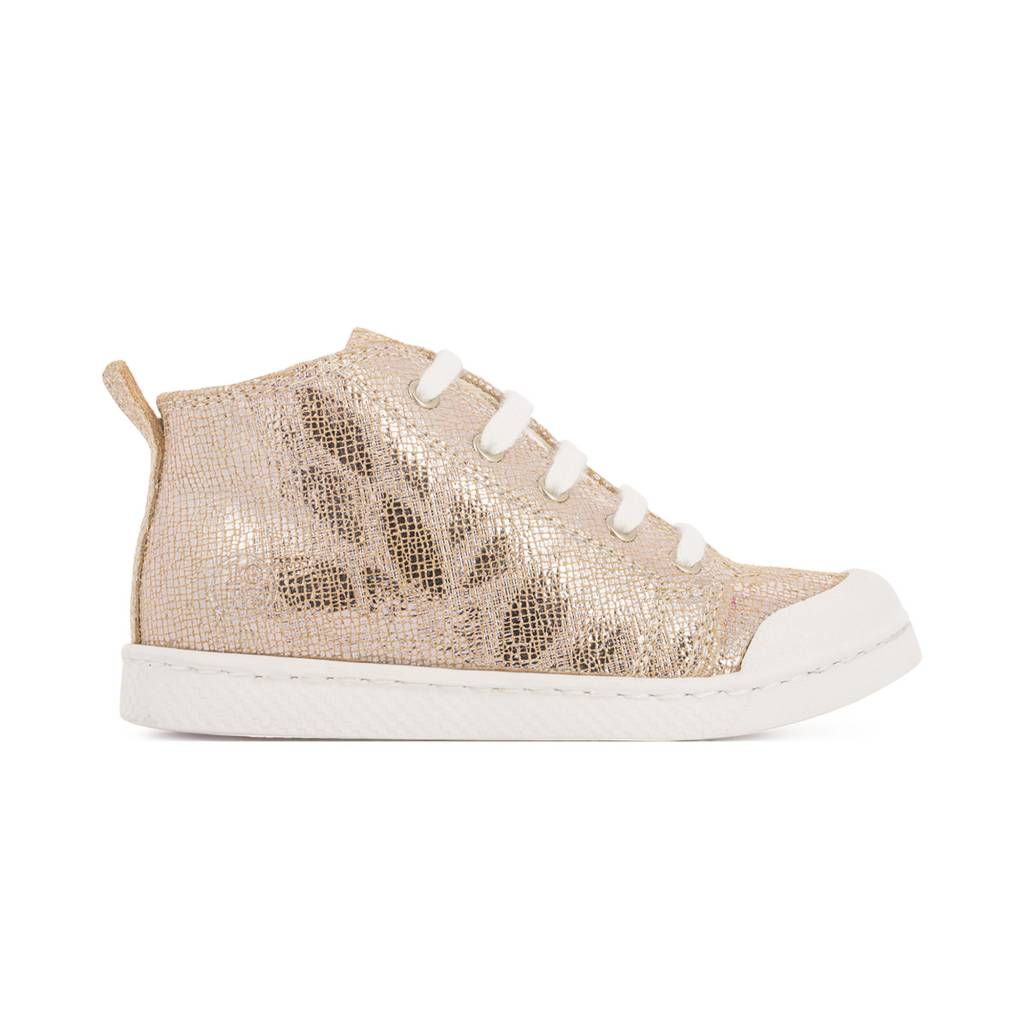 10is 10IS Rose gold leaf sneakers