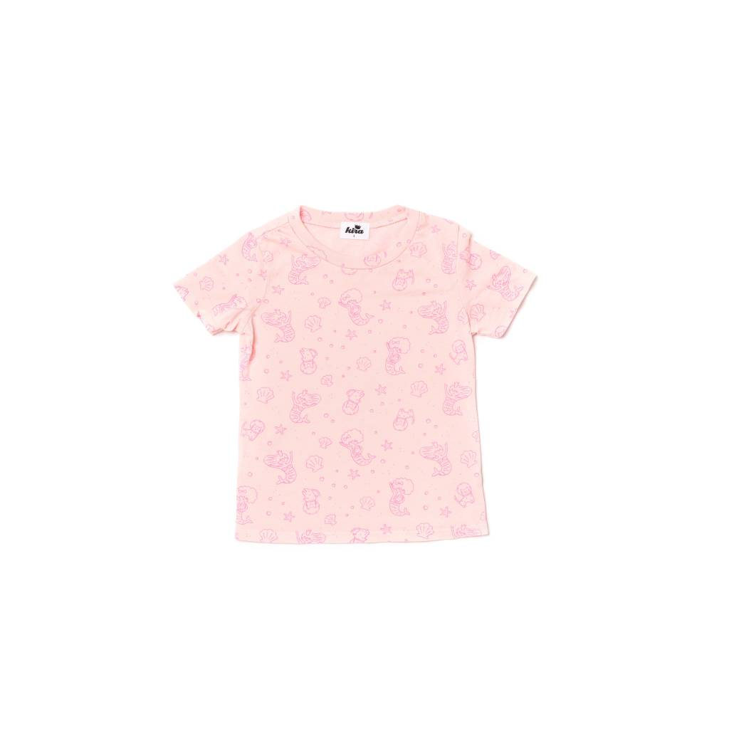 Kira Kids Pink mermaid tee