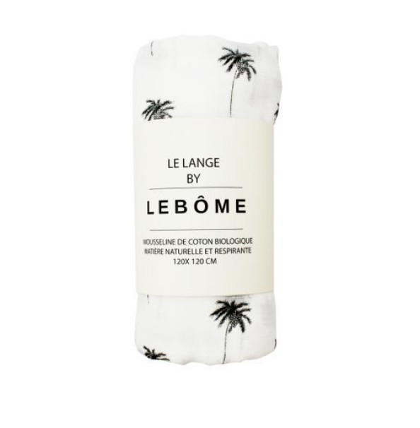 Lebôme Swaddle pattern palmiers