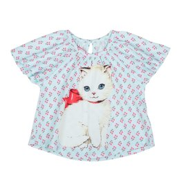 Paper Wings Retro Kitten Tee
