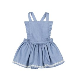 Paper Wings Blue Pinafore Skirt