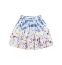 Paper Wings Gathered Skirt - Daisy Stripe