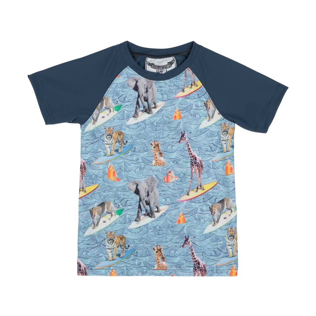 Paper Wings Short Sleeve Rashie - Surfs Up