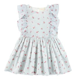 Simple Kids Maize red little flower dress