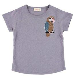 Simple Kids Purple parrot t-shirt