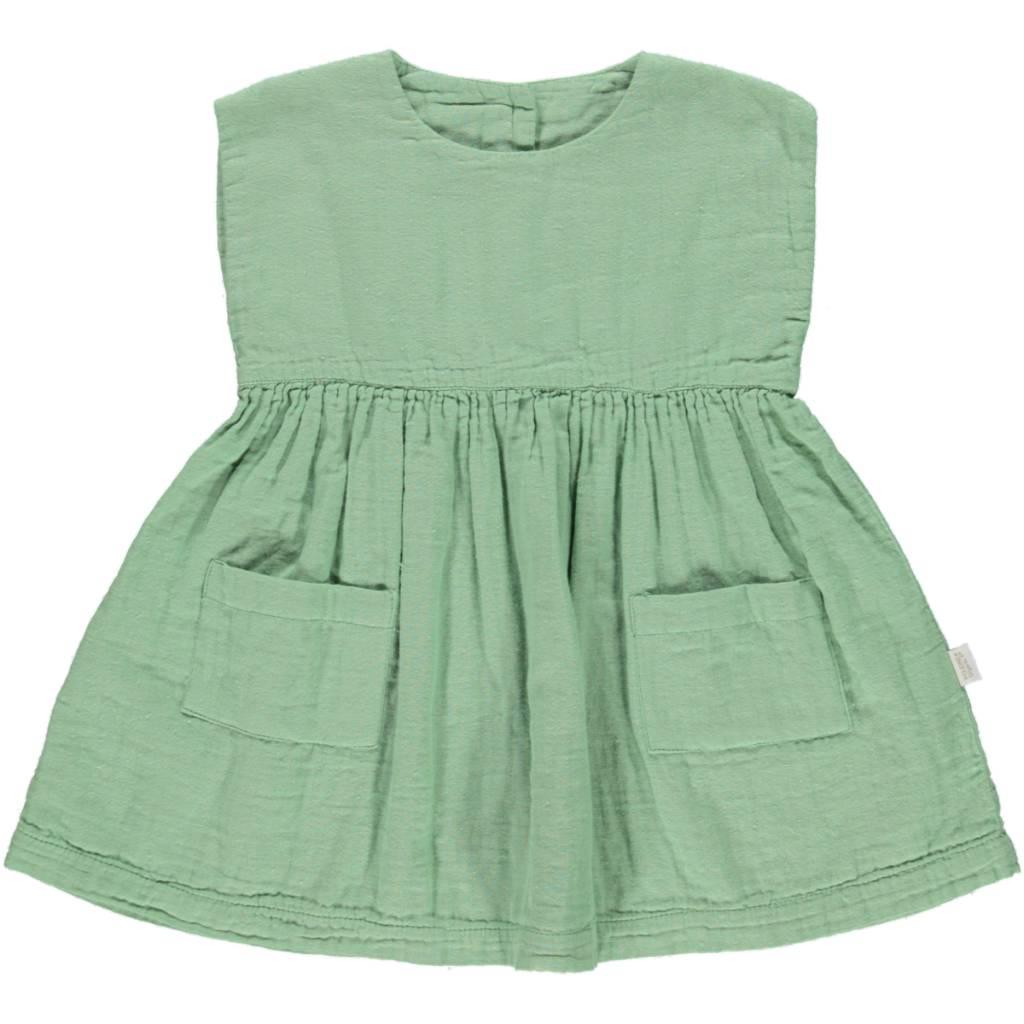 Poudre Organic Hibiscus dress green