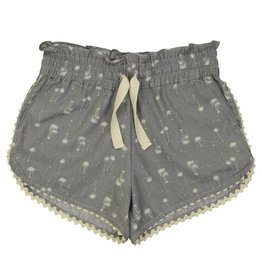 Petite Lucette Colombe short grey palm trees