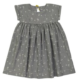 Petite Lucette Marinette dress grey palm tree