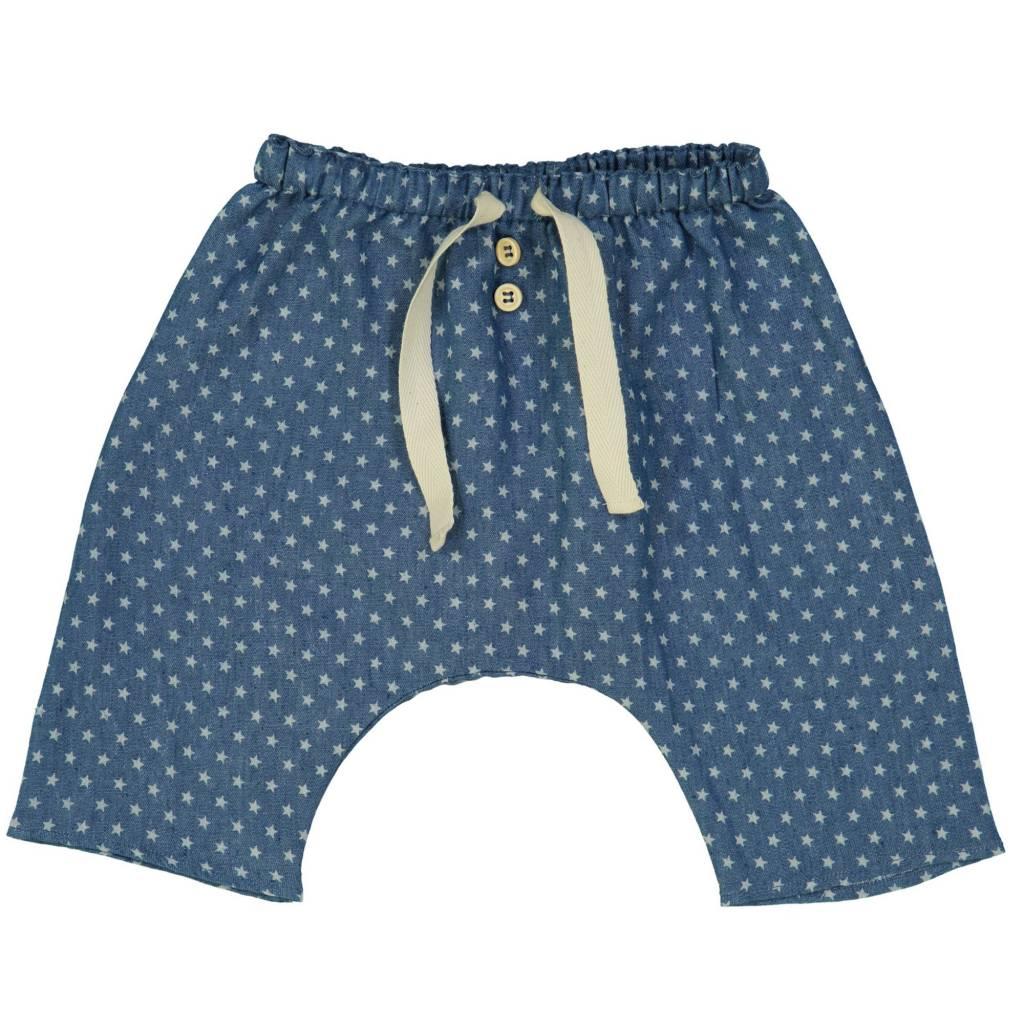 Petite Lucette Axel pants denim stars