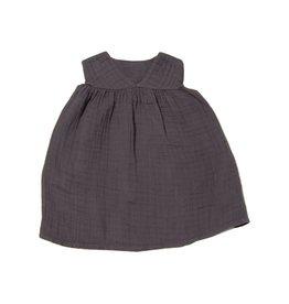 Go Gently Charcoal Gauze Dress!
