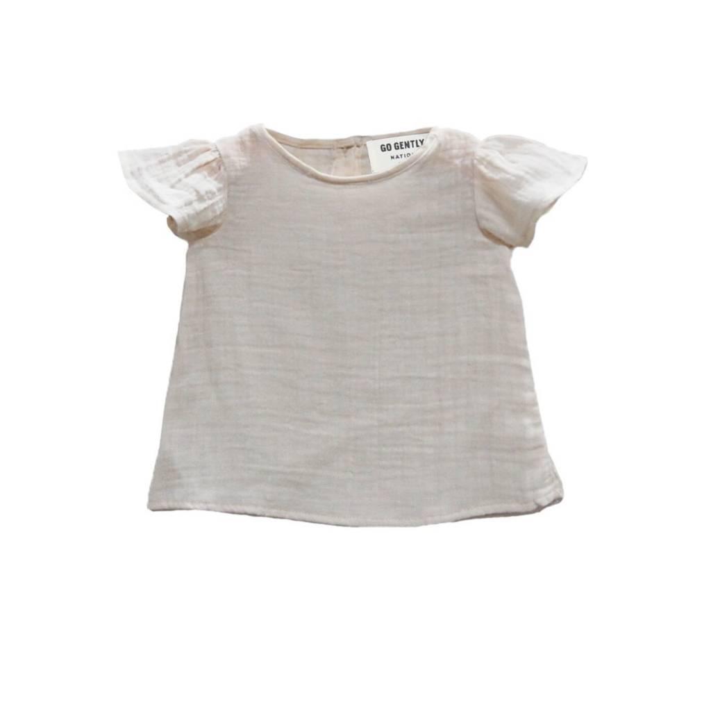 Go Gently Natural flutter blouse!