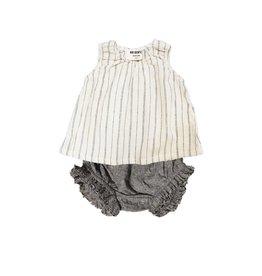 Go Gently Woven stripe baby set