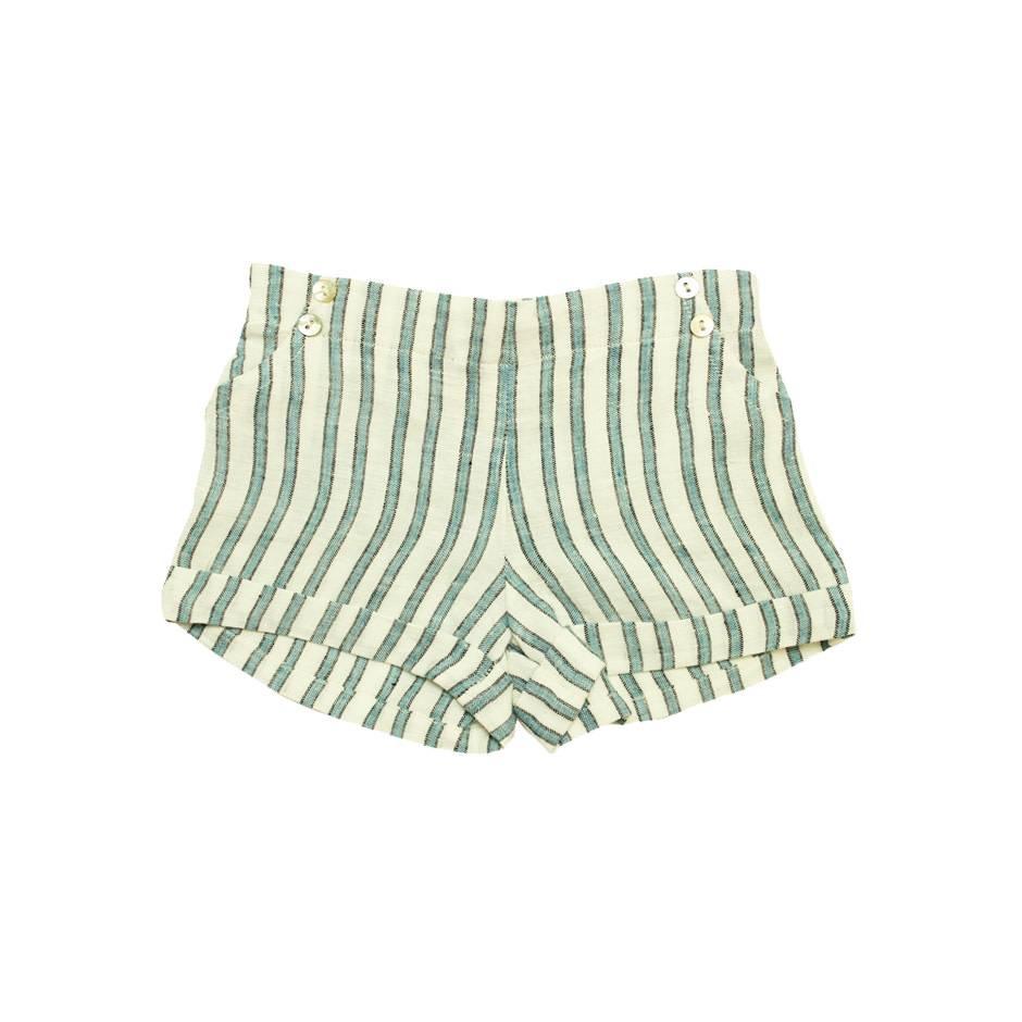 la petite collection Short stripes linen