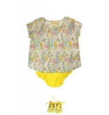 la petite collection Bell blouse + yellow bloomer set